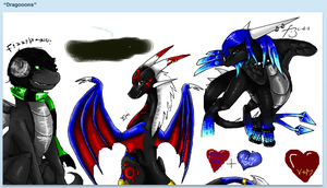 black draggis on iscribble by Minerea