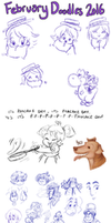 February Doodles 2016 by TopperHay