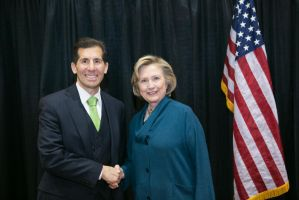 John Shegerian With Hillary Clinton by paulhunt520