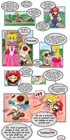 Mario: Alone at Home Pg 13 by saiiko