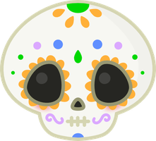 Kawaii Sugar Skull by amis0129