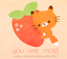 You are mine - Kawaii Little Fox by malejoveza