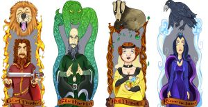 Hogwarts Founders Bookmarks by tricksterchild