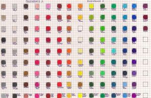 Faber Castell Polychromos Color Chart by Josephine9606
