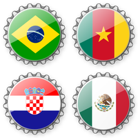 Bottlecaps FIFA Worldcup 2014 - Group A by mondspeer