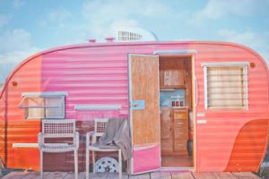 A Trailer in Pink by ninephotography