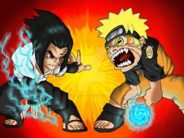 Sasuke vs Naruto by DominicanFlavor
