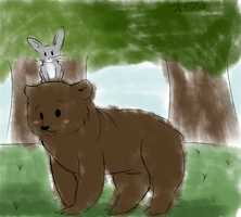 Bear and Hare by Stressed-Panda