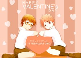 Happy Valentine's Day Mana and pittak by kwangshika