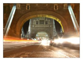 Tower Bridge traffic by Skeet