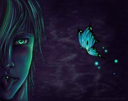 A Butterfly on the tongue by 6worldangel9
