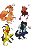 Creature Adoptables #1 (open) -PRICES LOWERED- by DShainADOPT