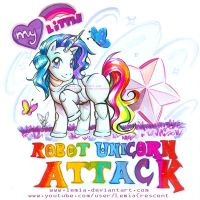 My Little Robot Unicorn Attack by LemiaCrescent