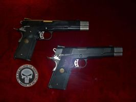 My own Punisher Airsoft Colts by OniPunisher