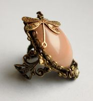 Pale pink fantasy ring II by Pinkabsinthe