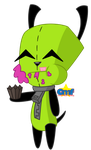 Gir Eating Cupcake by Tiny-Toons-Fan