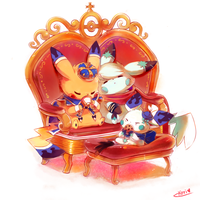 :commission: Royal family by kori7hatsumine