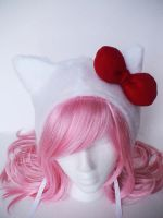 Hello Kitty Cosplay Hat by tehkamzorz