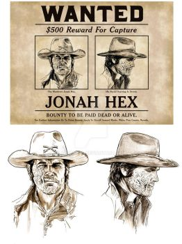 Jonah Hex Wanted Poster by jasonpal