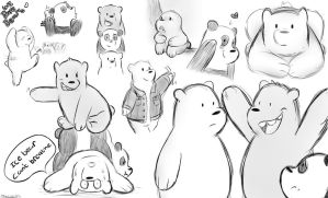 we bare bears doodles by Jack-Stripes