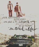 Winchester brothers+road. by stuff-I-do