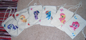 My Little Pony Chibi Iron-On Purse on a String by IcyPanther1