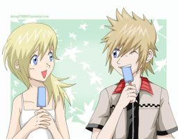 Roxas Namine Together by daniwae