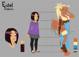 Character sheet: Eidel by kineko