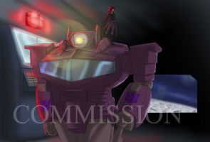 Commission: Shockwave and OC by Ty-Chou