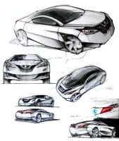 Coupe Ideation Sketches A by daviddaylee