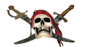 Pirate Skull and Daggers by WDWParksGal-Stock