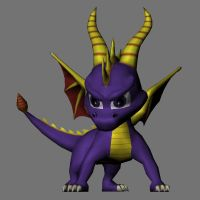 Spyro papercraft 3D model by LordBruco