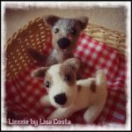 Needle felted tiny dogs by LizzziebyLisaCosta