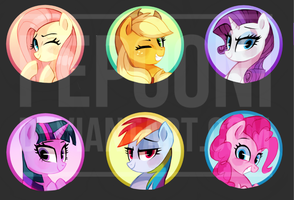 Buttons - Galacon by pepooni