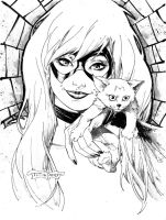 Black Cat Con-style sketch by aethibert