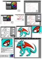 SALAMENCE TUTORIAL LOL by spyroatwarfang