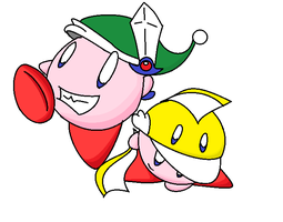 kirby - cutter and sword by KingKirbyThe3rd