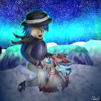 CG(2013): You are never alone with a Sylveon by lifegiving