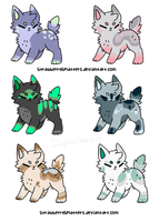 Canine Adopts {ONE LEFT} by Kiraco-Ziieeria