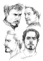 Tony Stark - RDJ -sketches by TashinaJacob