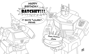 Transformers Happy Birthday by Mono-Phos