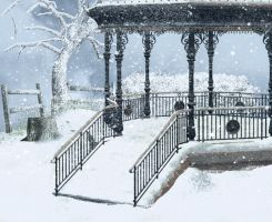 premade background winter 1 by H-stock