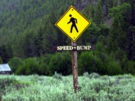 Human Speed Bump Ahead by IndifferentSociety