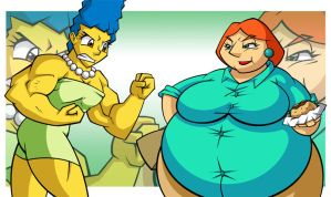 Marge vs Lois: Round 3 by ChadRocco