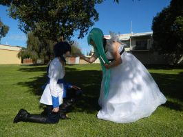 Cendrillion Miku and Kaito Vocaloid by seriouslyblondie