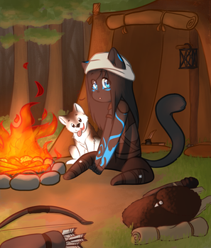 Camping by RianaDragoness