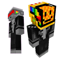Daft Punk (Minecraft skin) + H,B,F,S remix text by thunder-of-light