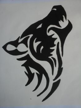 Wolf Template -Art Class Assignment by IceyRaven