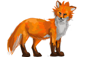 The Fox by ruzovymonster