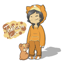 Cuddly Teddiursa Tumblrmon by AllegroAlley